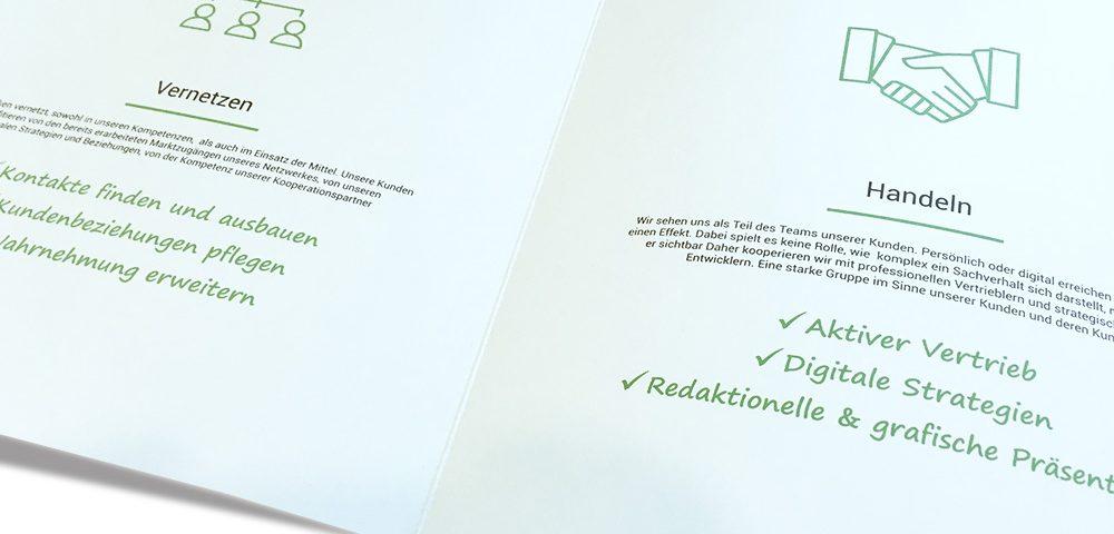 Gestaltung Firmen-Prospekt Folder Bielefeld