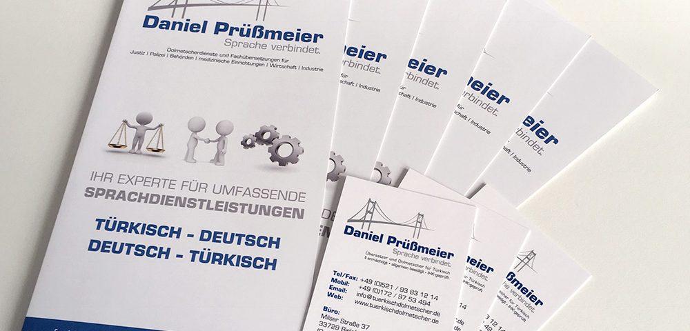 Visitenkarten und Werbeflyer Bielefeld günstiger Druck und Gestaltung