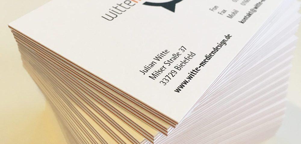 Visitenkarte aus dicken Schichtkarton Druck Bielefeld