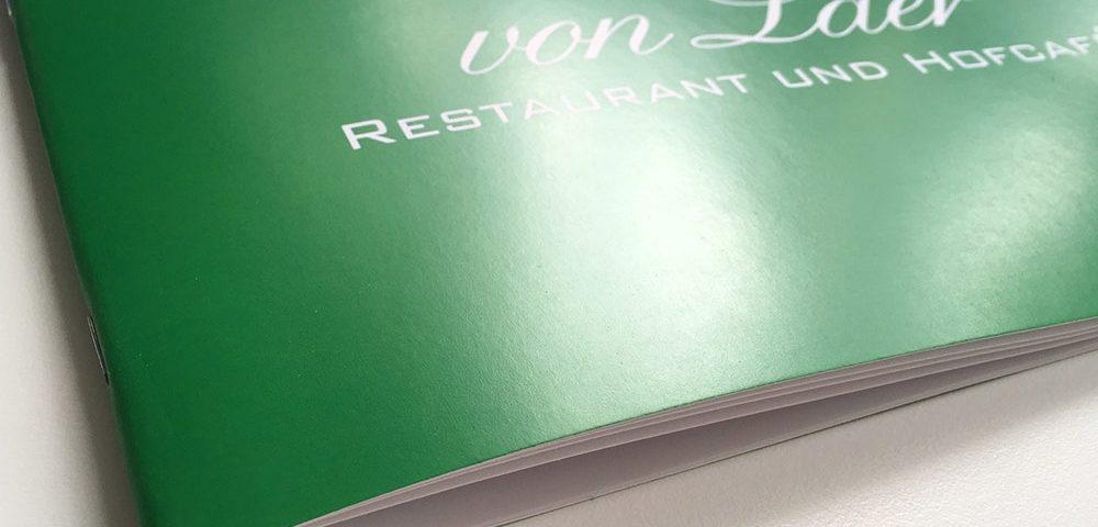 Speisekarte Restaurant Design und Druck